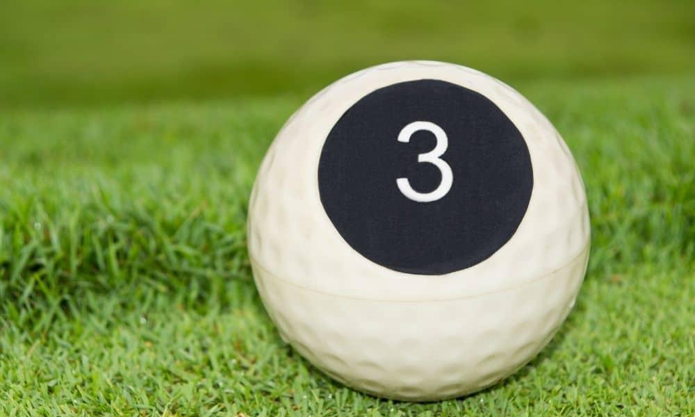 Single digit golf ball